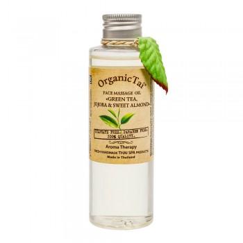Массажное масло для лица «Зеленый чай, жожоба и сладкий миндаль» 120 мл, OrganicTai
