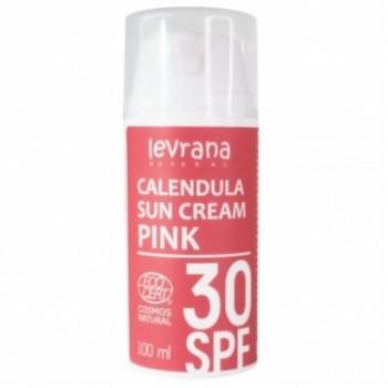 Солнцезащитный крем для лица и тела Календула 30 SPF PINK Levrana, 100 мл.
