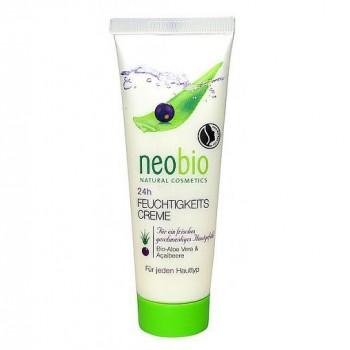"Увлажняющий крем для лица ""24 часа"" с био-алоэ и био-асаи Neobio, 50 мл."