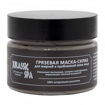 Грязевая маска-скраб для жирной и проблемной кожи лица Jurassic Spa, 100 мл.