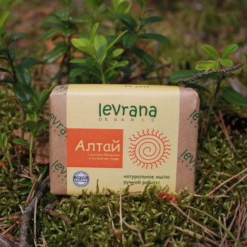 Натуральное мыло ручной работы Алтай с маслом облепихи Levrana, 100 гр.