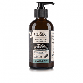 Гидрофильное масло для бритья Дубовый мох mi&ko, 100 мл.