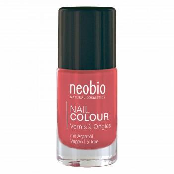 """Лак для ногтей №04 5-FREE, с аргановым маслом """"Нежный гибискус"""" Neobio, 8 мл."""