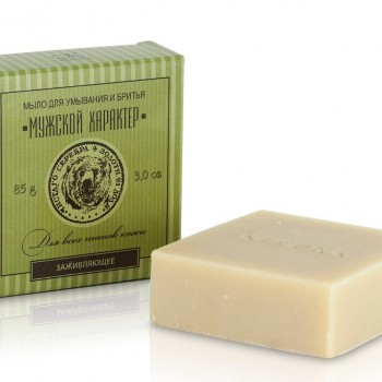Мыло для умывания и бритья с маслом полыни и сандала Kleona, 85 гр.