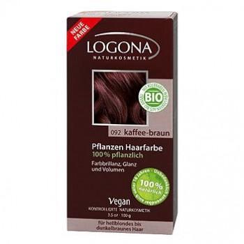 Растительная краска для волос 092 «КОФЕЙНО-КОРИЧНЕВЫЙ» LOGONA, 100 гр.