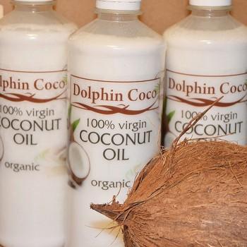 Нерафинированное кокосовое масло первого холодного отжима Dolphin Coco, 500 мл.
