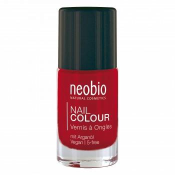 """Лак для ногтей №05 5-FREE, с аргановым маслом """"Лесная земляника"""" Neobio, 8 мл."""