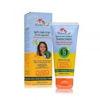 Органический солнцезащитный крем для тела Mommy Care SPF15, 100 мл.