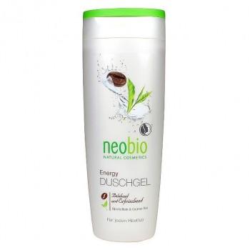 """Гель для душа """"Энергия"""" с био-кофеином и био-зеленым чаем Neobio, 250 мл."""