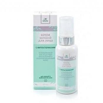Ночной крем для жирной и проблемной кожи с фитостеринами Kleona, 60 мл.