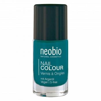 """Лак для ногтей №09 5-FREE, с аргановым маслом """"Драгоценная бирюза"""" Neobio, 8 мл."""