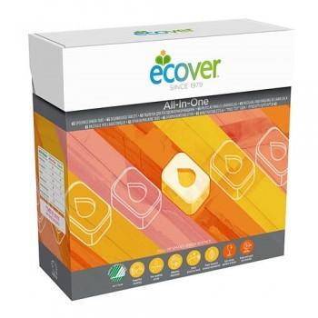 """Таблетки для посудомоечной машины """"Три в одном"""" Ecover, 500 гр./ 25 шт."""