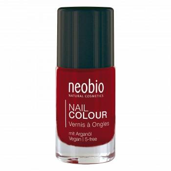 """Лак для ногтей №06 5-FREE, с аргановым маслом """"Насыщенный красный"""" Neobio, 8 мл."""