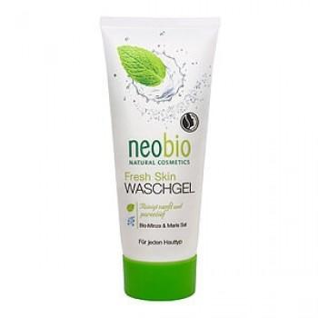 Очищающий гель для умывания Fresh Skin с био-мятой и морской солью Neobio, 100 мл