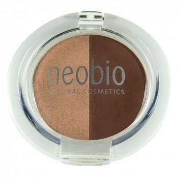 Двойные тени для век 02 коричневое шампанское Neobio, 2,5 гр.