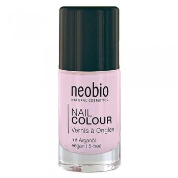 """Лак для ногтей №02 5-FREE, с аргановым маслом. """"Сладкий личи"""" Neobio, 8 мл."""
