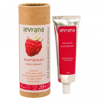 Малина крем для лица Levrana, 20+ для юной кожи, 50 мл.
