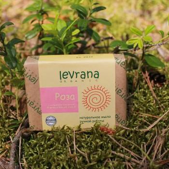 Натуральное мыло ручной работы Роза Levrana, 100 гр.