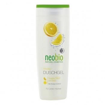 """Гель для душа """"Жизненная сила"""" с био-апельсином и био-лимоном Neobio, 250 мл."""