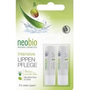 Бальзам для губ с био-алоэ и био-оливой Neobio, 2x4,8 гр.