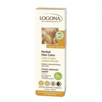Крем-краска для волос «МЕДНЫЙ БЛОНДИН» LOGONA, 150 мл.
