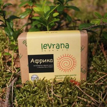 Натуральное африканское черное мыло ручной работы Levrana, 100 гр.