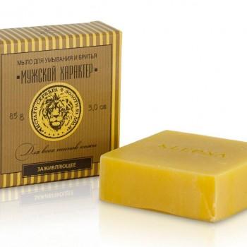 Мыло для умывания и бритья с маслом алтайской облепихи Kleona, 85 гр.