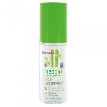 Дезодорант спрей 24 часа с био-оливой и бамбуком Neobio, 100 мл.
