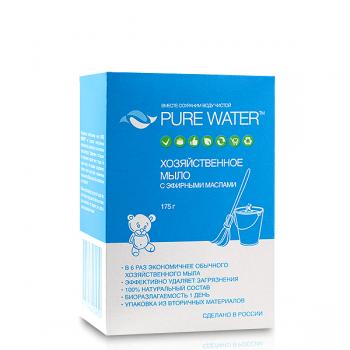 """Хозяйственное мыло с эфирными маслами """"PURE WATER"""" mi&ko, 175 гр."""