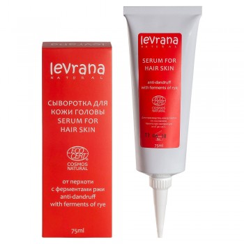 Сыворотка для кожи головы Против перхоти с ферментами ржи Levrana, 75 мл.