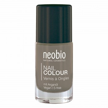 """Лак для ногтей №11 5-FREE, с аргановым маслом """"Нежно-Серый"""" Neobio, 8 мл."""