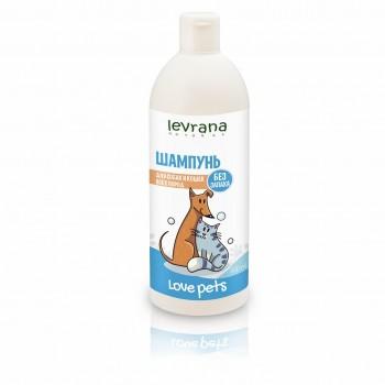 Шампунь для собак и кошек всех пород без аромата Levrana, 500 мл.