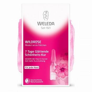 Розовый разглаживающий концентрат Weleda, 7x0,8 мл.