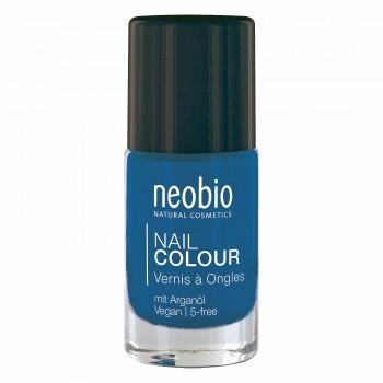 """Лак для ногтей №08 5-FREE, с аргановым маслом """"Сияющий синий"""" Neobio, 8 мл."""