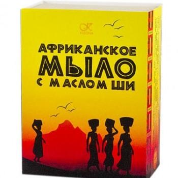 Чёрное африканское мыло с маслом Ши Kleona, 120 гр.