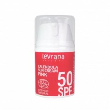 Солнцезащитный крем для лица и тела Календула, SPF50 PINK Levrana, 50 мл.