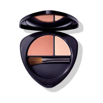 Румяна для лица двойные 01 нежный абрикос (Blush Duo 01 soft apricot) 5,7 г, Dr. Hauschka