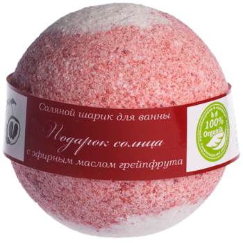 Бурлящий шарик для ванн  ПОДАРОК СОЛНЦА, 160 гр., Savonry