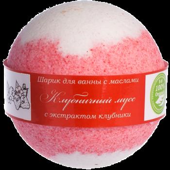 """Бурлящий шарик для ванн с маслами """"Клубничный мусс"""" Savonry, 160 гр."""