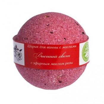 Бурлящие шарики для ванны Высший Свет (роза) Savonry, 160 гр.