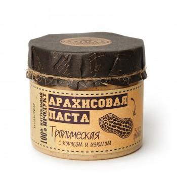 """Арахисовая паста """"Тропическая"""" с кокосом и изюмом Благодар, 300 гр."""